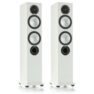 Monitor Audio Silver 6 Floorstanding Speakers Gloss White