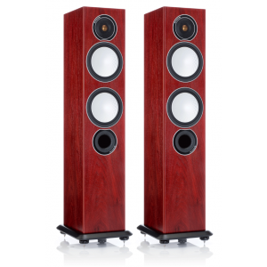 Monitor Audio Silver 6 Floorstanding Speakers Rosenut