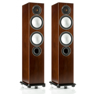 Monitor Audio Silver 6 Floorstanding Speakers Walnut