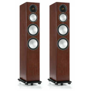 Monitor Audio Silver 8 Floorstanding Speakers Walnut