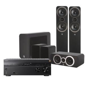 Sony STR-DN1080 AV Receiver w/ Q Acoustics 3050i Speaker Package 5.1