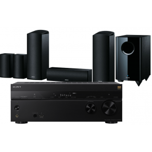Sony STR-DN1080 AV Receiver w/ Onkyo SKS-HT588 Speaker Package 5.1.2