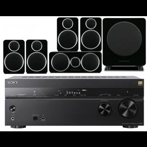 Sony STR-DN1080 AV Receiver w/ Wharfedale Diamond DX-2 Speaker Package