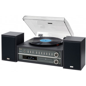 TEAC MC-D800 Turntable CD Bluetooth Audio System Black