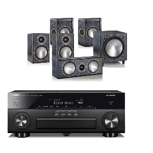 Yamaha RX-A660 AV Receiver w/ Monitor Audio Bronze 1 Speaker Package 5.1