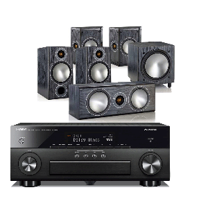 Yamaha RX-A660 AV Receiver w/ Monitor Audio Bronze 2 Speaker Package 5.1