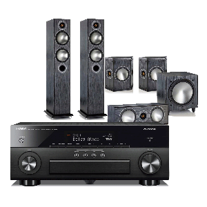 Yamaha RX-A660 AV Receiver w/ Monitor Audio Bronze 5 Speaker Package 5.1