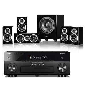 Yamaha RX-A860 AV Receiver w/ Wharfedale DX-1SE Speaker Package 5.1