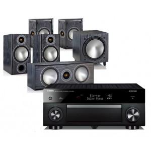 Yamaha RX-A1060 AV Receiver w/ Monitor Audio Bronze 2 Bookshelf Speaker Package 5.1