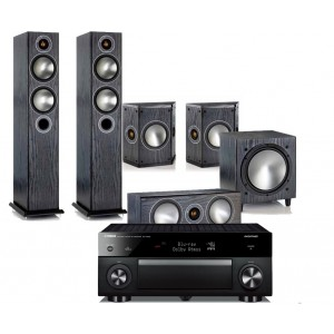 Yamaha RX-A1060 AV Receiver w/ Monitor Audio Bronze 5 Floorstanding Speaker Package 5.1
