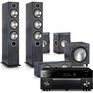 Yamaha RX-A1060 AV Receiver w/ Monitor Audio Bronze 6 Floorstanding Speaker Package 5.1