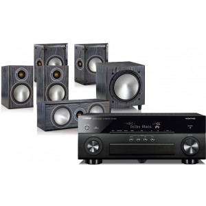 Yamaha RX-A860 w/ Monitor Audio Bronze 1 (5.1)