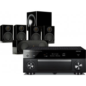 Yamaha RX-A1070 AV Receiver w/ Monitor Audio Radius R90HT1 Speaker Package 5.1