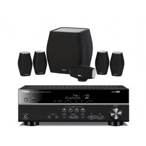 Yamaha RX-V383 AV Receiver w/ Monitor Audio MASS Speaker Package 5.1
