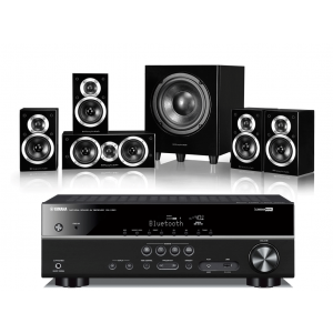 Yamaha RX-V381 AV Receiver w/ Wharfedale DX-1SE Speaker Package 5.1