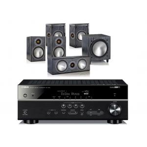 Yamaha RX-V681 AV Receiver w/ Monitor Audio Bronze 1 Speaker Package 5.1