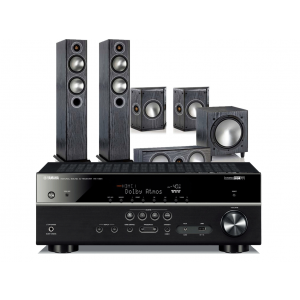Yamaha RX-V681 AV Receiver w/ Monitor Audio Bronze 5 Speaker Package 5.1