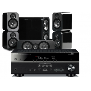 Yamaha RX-V581 AV Receiver w/ Q Acoustics 3000 Speaker Package 5.1