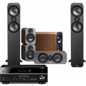 Yamaha RX-V583 AV Receiver w/ Q Acoustics 3050 Speaker Package 5.1