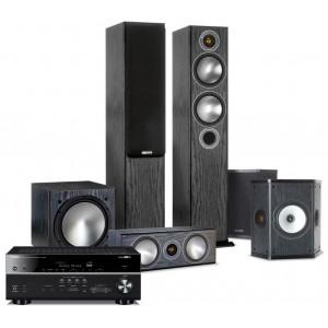 Yamaha RX-V683 AV Receiver w/ Monitor Audio Bronze B5 Speaker Package 5.1