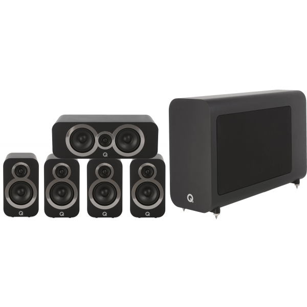 Q Acoustics 3010i 5.1 Cinema Pack Carbon Black