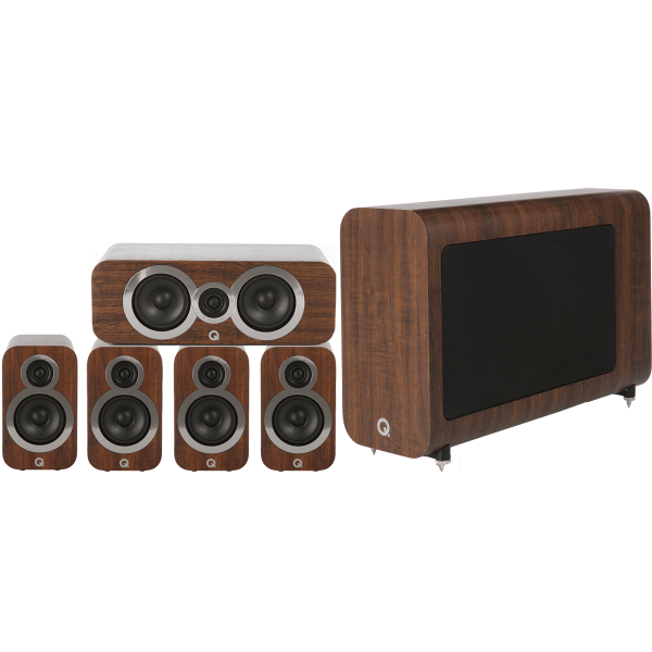 Q Acoustics 3010i 5.1 Cinema Pack English Walnut