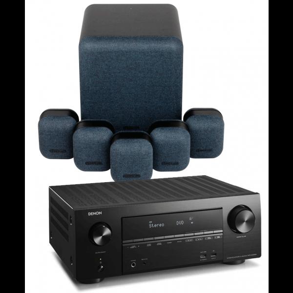 Denon AVR-X2500H AV Receiver w/ Monitor Audio MASS 5.1 Gen2