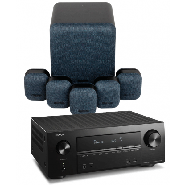 Denon AVR-X3500H AV Receiver w/ Monitor Audio MASS 5.1 Gen2