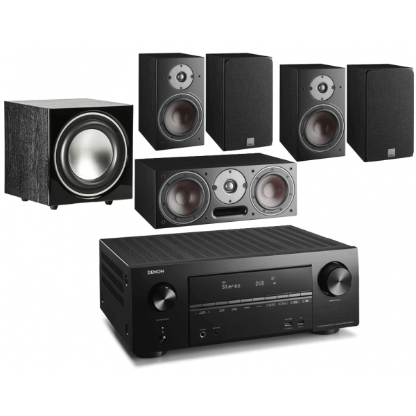 Denon AVR-X3500H AV Receiver w/ Dali Oberon 1 5.1 Speaker Package