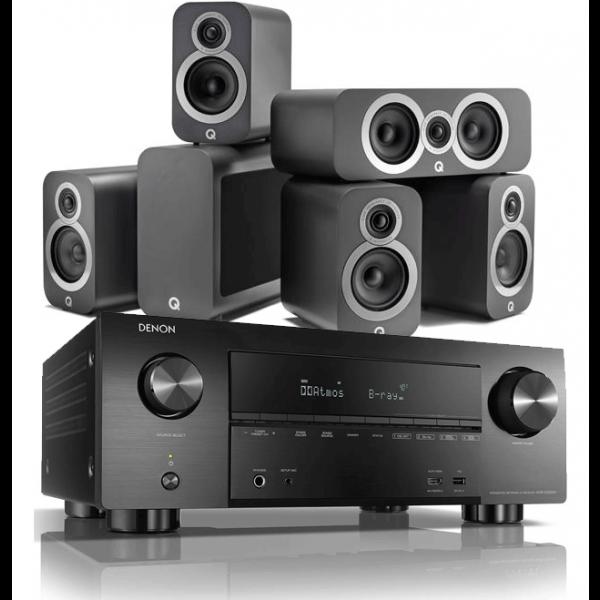 Denon AVR-X3600H AV Receiver w/ Q Acoustics 3010i 5.1 Cinema Pack
