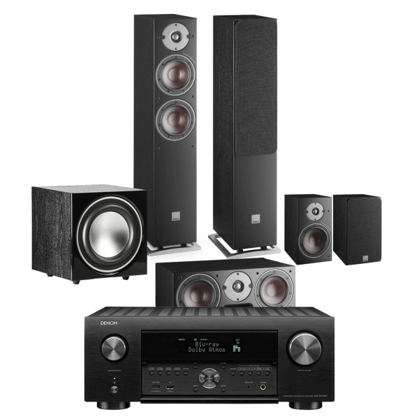 Denon AVC-X4700H AV Receiver w/ Dali Oberon 5 5.1 Speaker Package