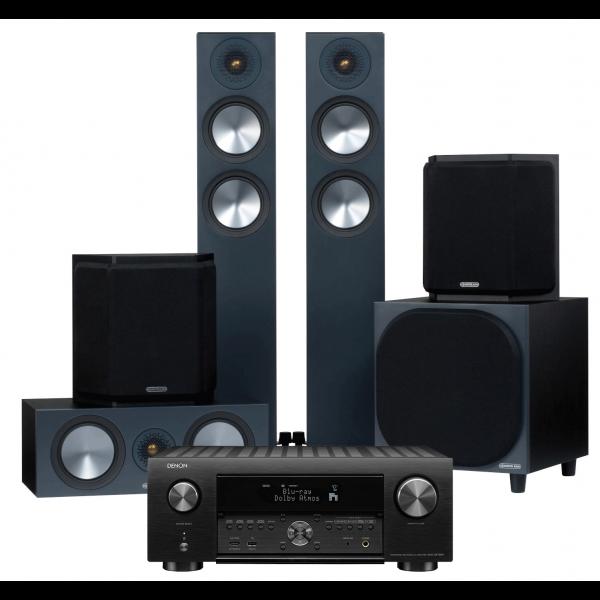 Denon AVC-X4700H AV Receiver w/ Monitor Audio Bronze 200 Speaker Package 5.1