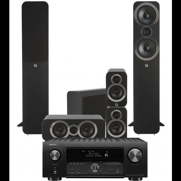 Denon AVC-X4700H AV Receiver w/ Q Acoustics 3050i Speaker Package 5.1