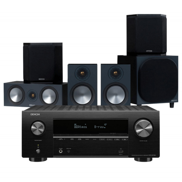Denon AVR-X2700H AV Receiver w/ Monitor Audio Bronze 100 Speaker Package
