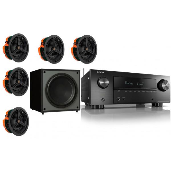 Denon AVR-X2700H AV Receiver w/ Monitor Audio C180 Speaker Package 5.1