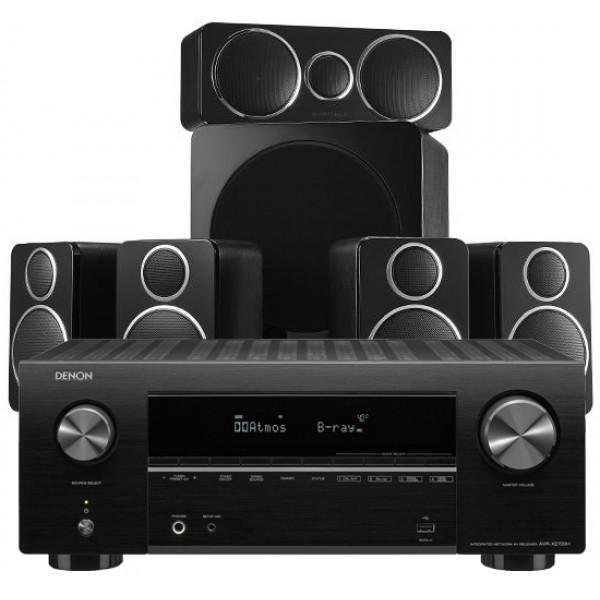 Denon AVR-X2700H AV Receiver w/ Wharfedale DX-2 Speaker Package