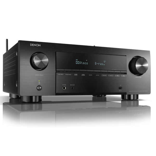 Denon AVC-X3700H Black 9.2ch 8K AV Amplifier with 3D Audio HEOS Built-in Voice Control