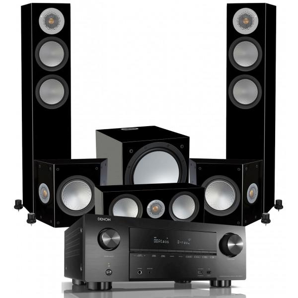 Denon AVC-X3700H AV Receiver w/ Monitor Audio Silver 200 Speaker Package