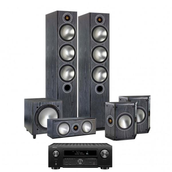 Denon AVC-X6500H AV Receiver w/ Monitor Audio Bronze 6 Speaker Package