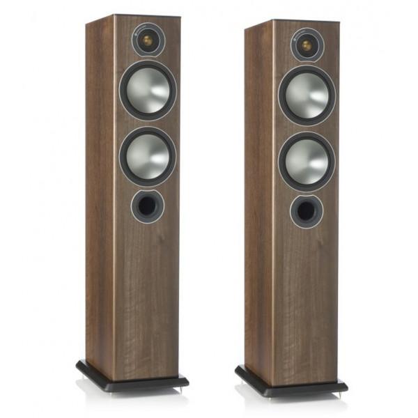Monitor Audio Bronze 5 Floorstanders Speakers Walnut