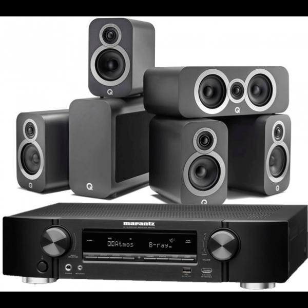 Marantz NR1710 AV Receiver w/ Q Acoustics 3010i 5.1 Speaker Package