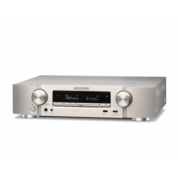 Marantz NR1710 Slim AV Receiver Silver 4K HDR Alexa eARC Dolby Atmos Dolby Vision AirPlay 2