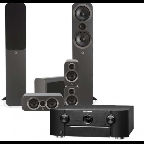 Marantz SR6015 AV Receiver w/ Q Acoustics 3050i 5.1 Speaker Package
