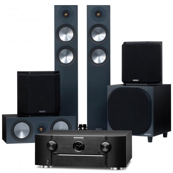 Marantz SR6015 AV Receiver w/ Monitor Audio Bronze 200 5.1 Speaker Package