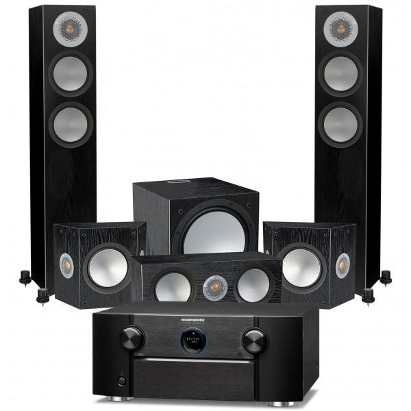 Marantz SR7015 AV Receiver w/ Monitor Audio Silver 200 Speaker Package