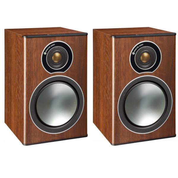 Monitor Audio Bronze 1 Bookshelf Speakers - Walnut