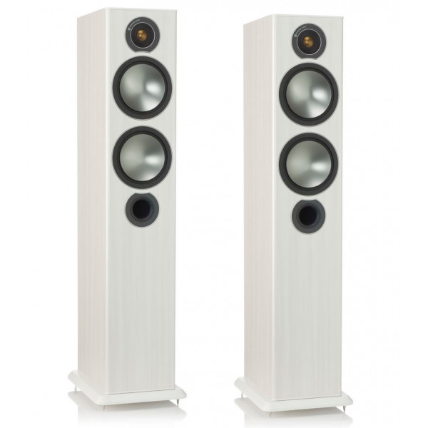 Monitor Audio Bronze 5 Floorstanders Speakers White Ash