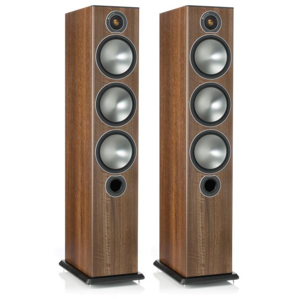 Monitor Audio Bronze 6 Floorstanding Speakers Walnut