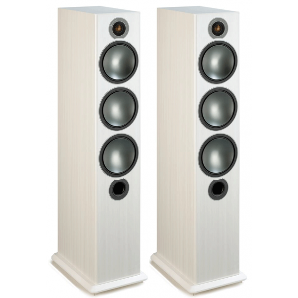 Monitor Audio Bronze 6 Floorstanding Speakers White Ash