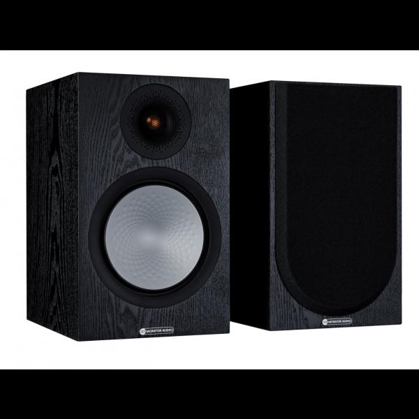 Monitor Audio Silver 100 7G Bookshelf Speakers Black Oak